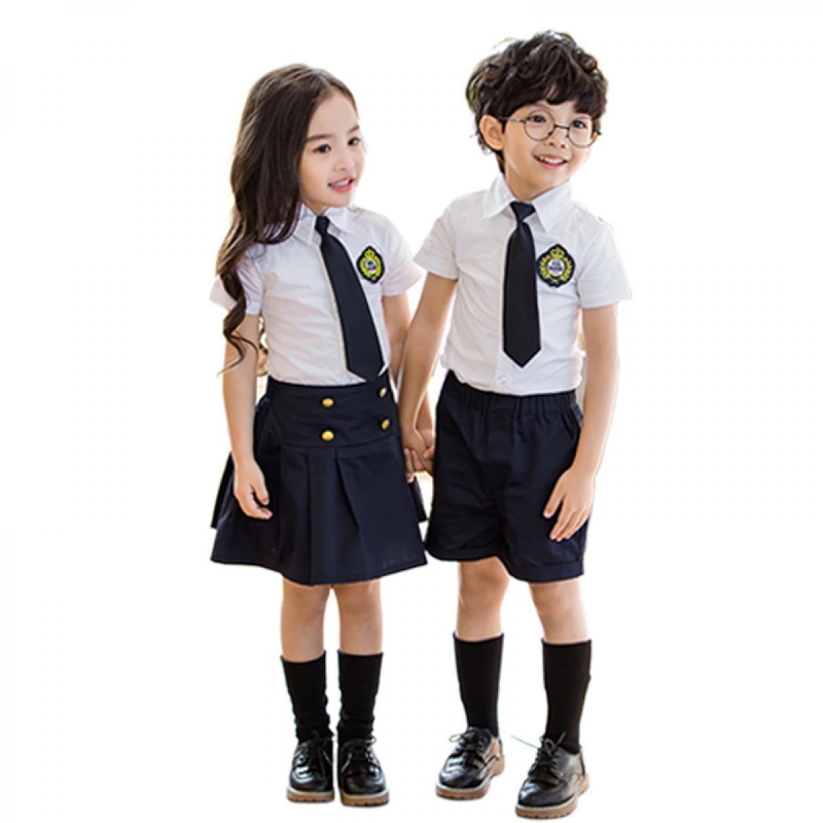 班服小学生夏季学院英伦风校服