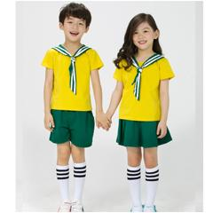 幼儿园园服夏装运动服装小学生校服定制儿童班服棒球服套装