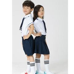 小学生夏季英伦风校服